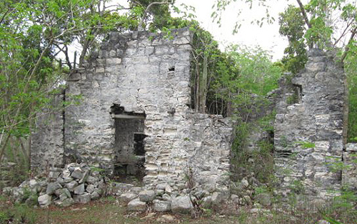 Some of the ruins at Wade's Green Plantation on North Caicos
