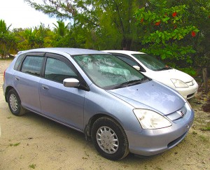 Car rental on North Caicos Honda Civic - seats 5